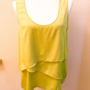 BCBG yellow cami silk top
